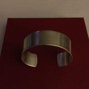 "Solid Sterling Silver Cuff Bracelet 3/4"" 45g."